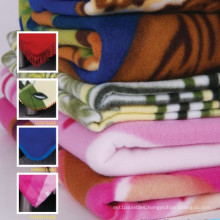 100% Polyester Plain Dyed Super Soft Polar Fleece Picnic Blanket