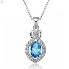 Модные Чистого Серебра Слезоточивый Падение Камень Ожерелье Ювелирные Изделия