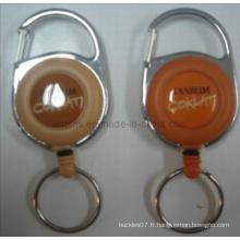 Bobine de badge en plastique avec logo imprimé et époxy