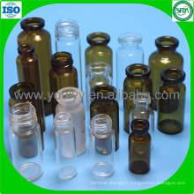 Clear and Amber Toute la gamme de flacon en verre pour injection