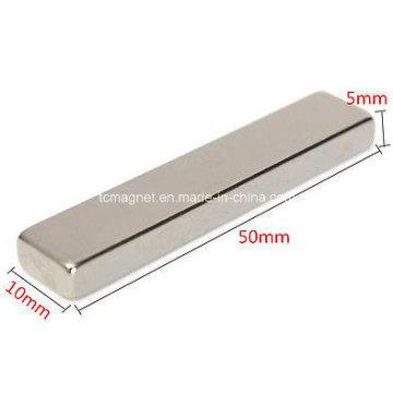 Strong Magnetic N50 Long Block Bar Magnet 50 X 10 X 5 mm Rare Earth Neodymium