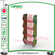 Stacking Display Basket Stand Wire Mesh Basket
