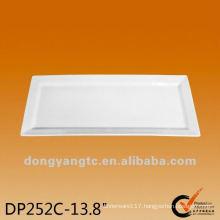 12 | 13.8 Inch white square plates , white porcelain plate set