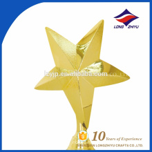 Creative awards Souvenir gold five star trophy