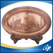 Placas de gravação de bronze decorativas feitas sob encomenda do metal do logotipo