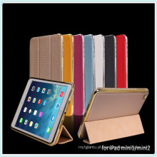 Caso de couro de diamantes de luxo para iPad Mini
