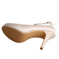 Peep Toe Ankle Strap Ivory Shoes untuk Bridesmaids