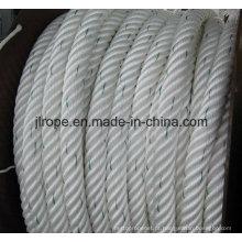 Corda do atlas, corda da amarração, Nylon Sing Filamento 6-Ply Composto Rop