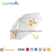 19 Zoll 8 Rippen fördernde gelbe Ente Regenschirm für Kinder