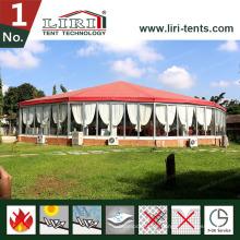 Nach Maß mehrseitiges Zirkus-sechseckiges Gazebo-Überdachungs-Zelt für Hochzeits-Party im Freien
