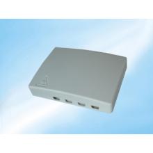 Caja de conexiones de fibra óptica de 4 puertos