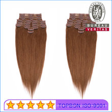18inch Straight Clip Hair Extension 100% Unprocessed Brazilian Human Hair