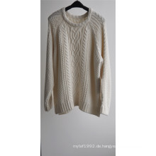 Damen Winter Patterned Strick Pullover Pullover