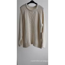 Senhoras inverno modelado camisola de malha de malha