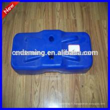 Pieds en clôture temporaires remplis d'eau plastique, moulage par injection pieds en plastique, moulage par soufflage pieds en plastique