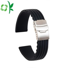 Simple Silicone Watch Strap Replacement Waterproof Stripe