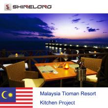 Projeto de cozinha Tioman Resort da Malásia por Shinelong