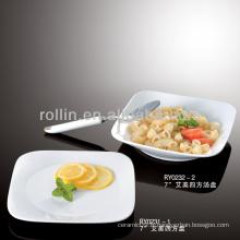 Emmy series hotel & restaurant assiette en porcelaine fine blanche, vaisselle, vaisselle en porcelaine