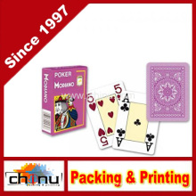 Modiano Italian Poker Game Playing Cards - Purple Poker - Large 4 Index - Single Card Deck - 100% Plastic (430145)