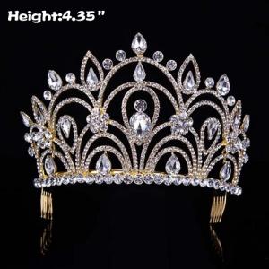 Coronas únicas del desfile nupcial de la boda del diamante con los peines