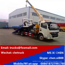 DFAC 3tons Wrecker reboque com 3000kg guindaste caminhão guincho