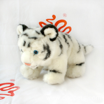 Plush Faux Fur White Tiger Toy