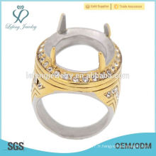 Belle et à la mode mans indonesia anneau en acier inoxydable, anneaux en pierre turque pour hommes