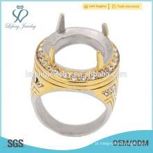 Bonito e elegante mans indonésia anel de aço inoxidável, anel de pedra turca design para os homens