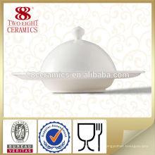 Guangzhou traiteur assiettes vaisselle en céramique blanche en grès