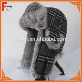 rabbit fur bomber hat