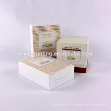 Empaquetado coemstic impreso de lujo de encargo con EVA insts