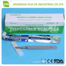 Escalpelo de segurança cirúrgica de aço inoxidável