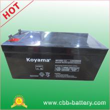 Batería solar de plomo AGM de 12V250ah para las telecomunicaciones