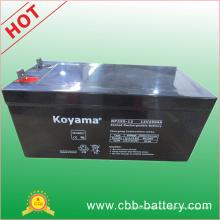 Bateria solar acidificada ao chumbo de 12V250ah AGM para telecomunicações