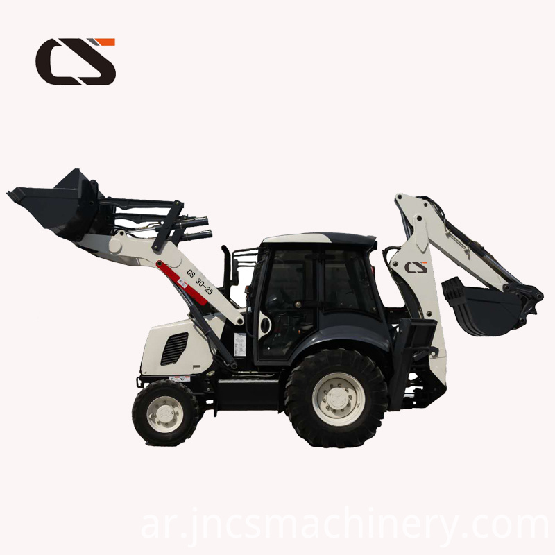 Euro 3 engine Wheel Backhoe tractor