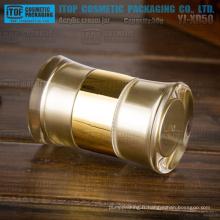 Conception étonnante de 50g YJ-XD50 round pot acrylique de bouche double de 50g de l'emballage unique cosmétiques crème