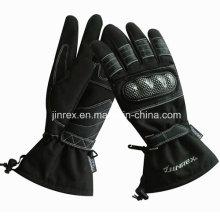Guante de cuero completo del relleno del gel del dedo de la moto de ciclo de la motocicleta