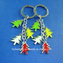 Árvores de Natal chaveiro de ouro impresso, decoração (GZHY-KC-002)