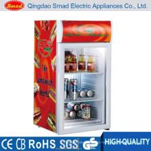 Mini refrigeradores de la exhibición del escaparate de la puerta de cristal 80L