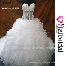 RSW98 vestidos de novia con el tren desmontable