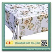 Bas prix imprimé tissu de table en pvc