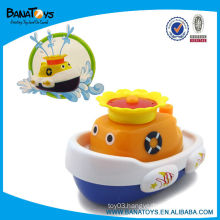 Interesting plastic boat baby bath squirt toys