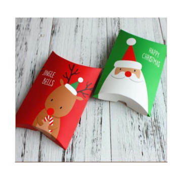 Hadiah Natal Favor Sweets Pillow Bag Paper Box