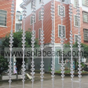 Home Decoration 22MM&18MM&14MM&6MM Wire Acrylic Crystal Beading Garland Trim