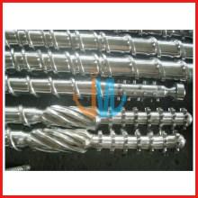 Bimetallic single screw barrel for extruder / tungsten carbide screw barrel