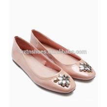 2016 novo modelo de senhoras baratos sapatos moda jóia decorados Flats para mulheres