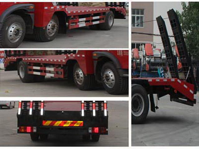 FAW Tri-eixo 6X2 Low Bed Flat Trailer