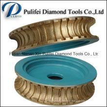 Forme de pierre faisant des roues de profil frittées de diamant de machine-outil