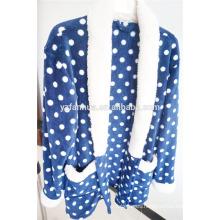 pijama de mujer venta de caliente de la cálida lana con capucha ropa de dormir