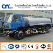 Chemical LNG Liquide oxygène Nitrogène Dioxyde de carbone Combustible Argon Tank Car Semi Semi-remorque